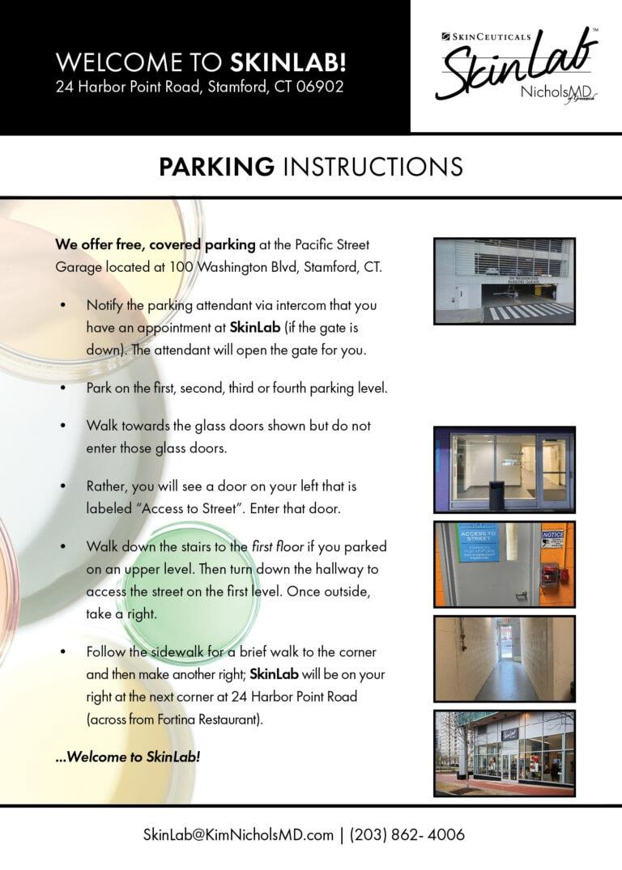 352 023 Parking Direction Handout